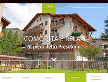 Tablet Preview of hotelprealpi.it